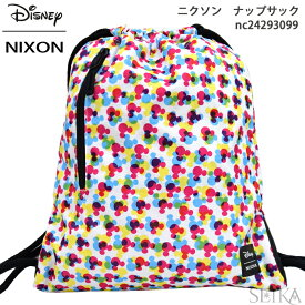 (対象商品と同梱で送料無料)NIXON ニクソン リュック ナップサックEVERYDAY CINCH BAG NC24293099(13)THE MICKEY MOUSE 90TH ANNIVERSARY Collectionバック カバン バッグ ディズニー ミッキー 90周年
