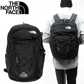 【1】ノースフェイス リュックサック THE NORTH FACE サージュ Surge TNF Black NF0A3ETV(T93ETVJK3)リュックサック バックパック リュック カバン 鞄 バッグ ギフト【新生活】
