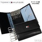 トミーヒルフィガー/TOMMYHILFIGERキーケース【31TL17X002】ブラック(11)メンズレディースレザー/