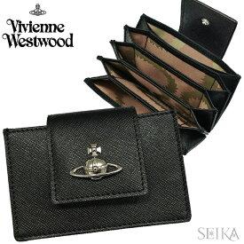 ヴィヴィアンウエストウッド Vivienne Westwood 【13】51110021 40187 N403 PIMLICO CARD HOLDER WITH カードケース メンズ レディース 無地 BLACK 黒 レザー