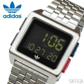 アディダス adidas ARCHIVE_M1 (42)Z01-2924-00 Z012924-00 時計 腕時計 メンズ レディース シルバー メッシュ デジタル