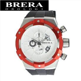 【クリアランス】【65】ブレラ オロロジ BRERA OROLOGI スーパースポルティーボ SupersportivoBRSSC4905F メンズ 時計ホワイト×レッド ブラック ラバー【ID】赤い腕時計 赤い腕時計 クリスマス プレゼント