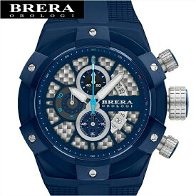 【商品入れ替えクリアランス】【69】ブレラ オロロジ BRERA OROLOGIBRSSC4919A メンズ 時計シルバー×ネイビー ネイビー ラバー 青い腕時計 クリスマス プレゼント