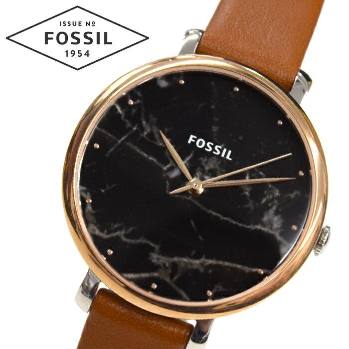 【当店ならお得クーポンあり!】【クリアランス】フォッシル FOSSIL ジャクリーン ES4378時計 腕時計 レディースブラック(ブラックマーブル) ブラウン レザー【ID】