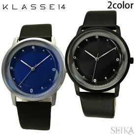 クラス14 KLASSE14 DAN TOMIMATSU時計 腕時計 メンズ レディース レザー 40mmFO14SR001M(20) シルバー FO14SR003M(21) ブルー FO14SR002M(22) オレンジ FO14SR005M(23) グリーン FO14BK001M(24) ブラック