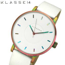 【レビューを書いて5年保証】クラス14 KLASSE14 マリオ ノビル ヴォラーレ時計 腕時計 メンズ レディース レザー 42mmレインボー VO16TI003M(40) ホワイト プレゼント 父の日