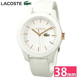 ラコステ LACOSTE 2000960 (79)時計 腕時計 レディースホワイト ピンクゴールド ラバー ピンクゴールドの腕時計