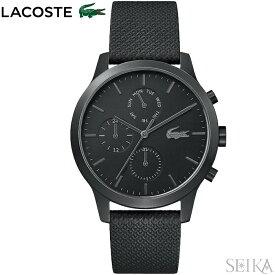 ラコステ LACOSTE 12.12 2010997(163)時計 腕時計 メンズ ブラック レザー 黒い腕時計