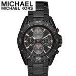 マイケルコースMICHAELKORSMK8455時計腕時計メンズブラックシルバー(k-15)