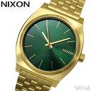 NIXON ニクソン タイムテラー A045-1919時計 腕時計 メンズ レディース ユニセックス ゴールド グリーン A0451919-00 …