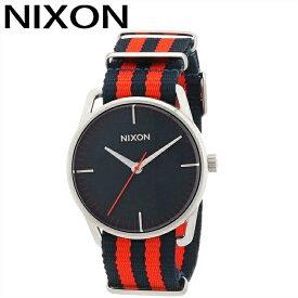 【レビューを書いて5年保証】【商品入れ替えクリアランス】ニクソン NIXON メラー サープラスA1291152 腕時計 時計 メンズネイビー レッド NATO ナイロン 青い腕時計