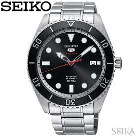 セイコー SEIKO SRPB91K1(86) ファイブスポーツ 自動巻き時計 腕時計 ブラック 海外モデル 逆輸入