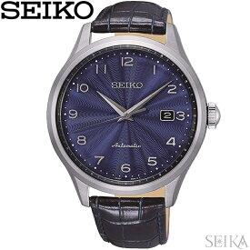 セイコー SEIKO SRPC21K1(89) 自動巻き時計 腕時計 ネイビー レザー 海外モデル 逆輸入 青い腕時計