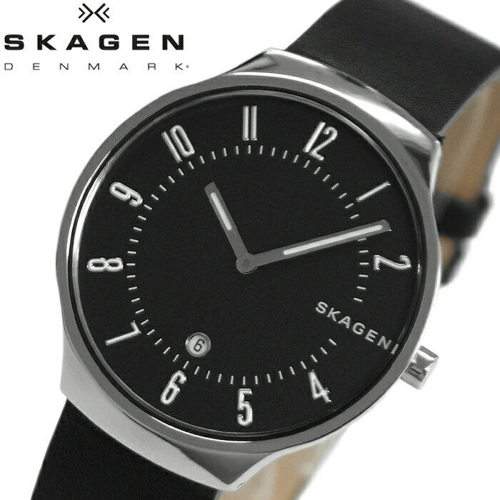 【当店ならお得クーポンあり!】【クリアランス】スカーゲン SKAGEN グレーネン GRENEN skw6459 時計 腕時計 メンズブラック レザー