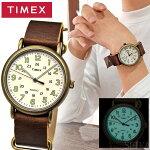 【対象商品と同梱で送料無料】タイメックス/TIMEX時計メンズ腕時計【TW2P85700(49)】ホワイトブラウンレザー/ヴィンテージウィークエンダー/