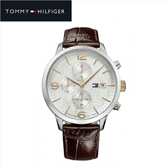 【当店ならお得クーポンあり!】【クリアランス】トミーヒルフィガー TOMMY HILFIGER1710360(148) メンズ 時計 腕時計 ネイビー ブラウン ラバー