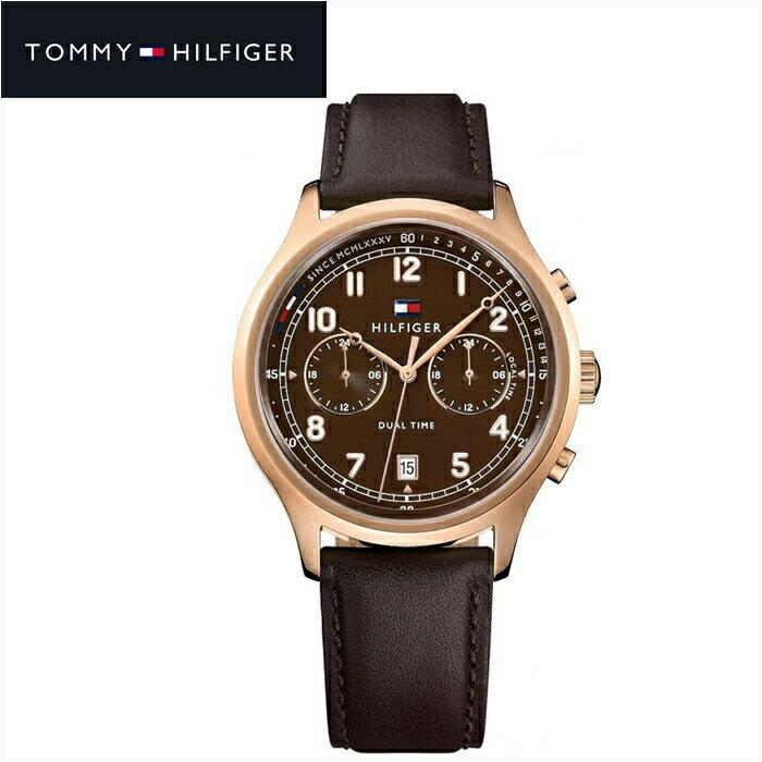 大創業祭!第2弾!!トミーヒルフィガー TOMMY HILFIGER 1791387 (133)時計 腕時計 メンズブラウン レザー