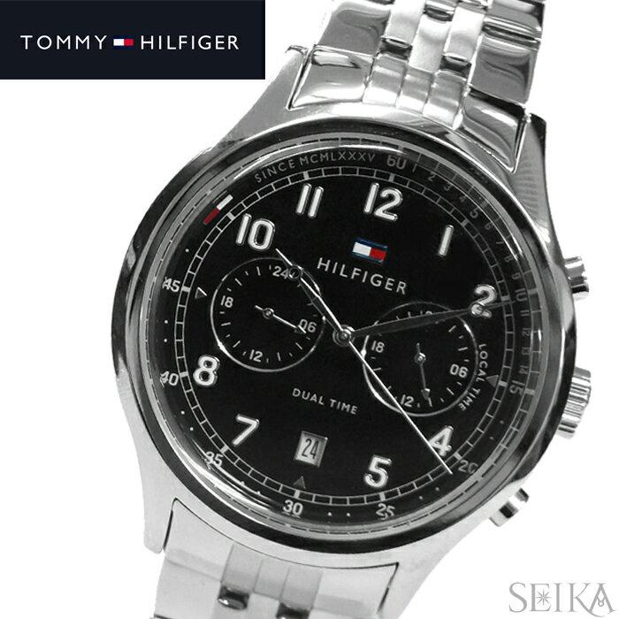 【当店ならお得クーポンあり!】【クリアランス】トミーヒルフィガー TOMMY HILFIGER 1791389 (191)時計 腕時計 メンズ ブラック シルバー