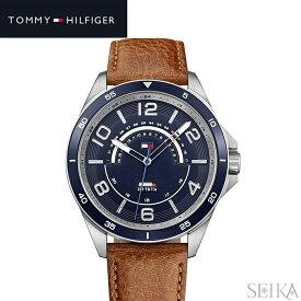 【商品入れ替えクリアランス】トミーヒルフィガー TOMMY HILFIGER 1791391 (221)時計 腕時計 メンズ ネイビー ブラウン レザー 青い腕時計
