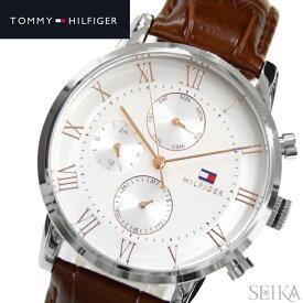 トミーヒルフィガー TOMMY HILFIGER 1791400 (193)時計 腕時計 メンズ ホワイト ブラウン レザー 白い腕時計