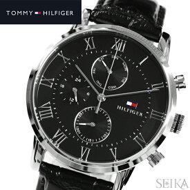 【レビューを書いて5年保証】【本数限定価格!】トミーヒルフィガー TOMMY HILFIGER 1791401 (199)時計 腕時計 メンズブラック レザー ギフト