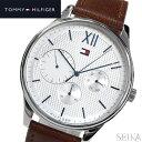 トミーヒルフィガー TOMMY HILFIGER 1791418 (122)時計 腕時計 メンズ ホワイト ブラウン レザー