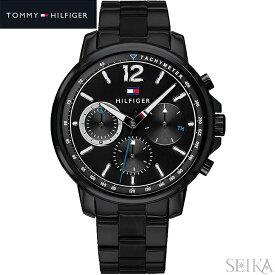 【レビューを書いて5年保証】トミーヒルフィガー TOMMY HILFIGER 1791529(292)時計 腕時計 メンズ ブラック 黒い腕時計 ギフト