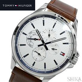 【レビューを書いて5年保証】【クリアランス】トミーヒルフィガー TOMMY HILFIGER 1791614 (307)時計 腕時計 メンズシルバー ホワイト レザー【0703】 ギフト