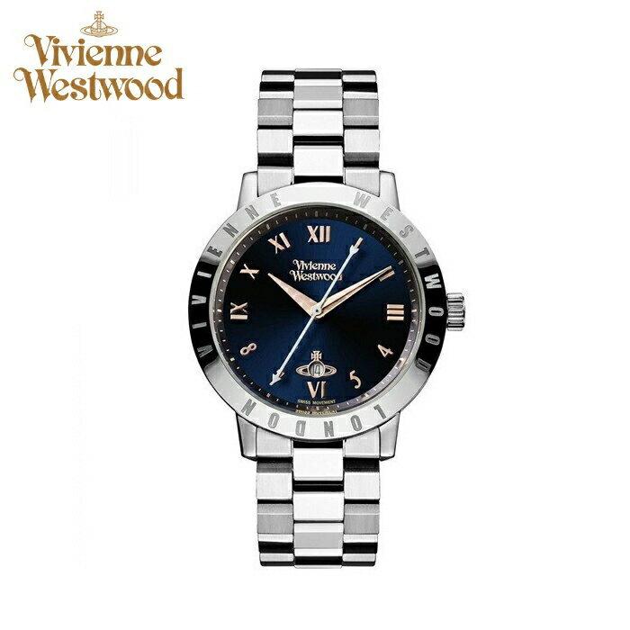 (ショップ袋プレゼント)ヴィヴィアンウエストウッドVivienne Westwood時計 腕時計 レディースネイビー シルバー VV152NVSL