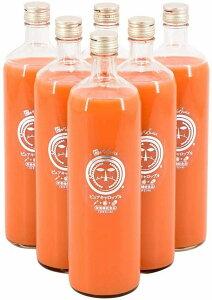 ピカイチ野菜くん 無農薬にんじんとりんごレモンの常温ビンジュース 900mL×6本