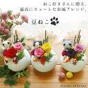 プリザーブドフラワー 誕生日プレゼント 女性 和風 ギフト 花 プレゼント ネコ 猫 ねこ ぬいぐるみ プリザ 誕生日 送…