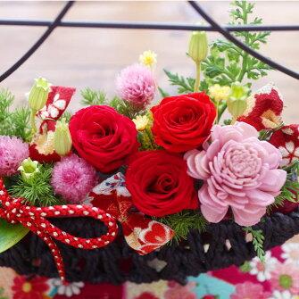 プリザーブドフラワー送料無料ギフト富士山おめでたいプレゼント