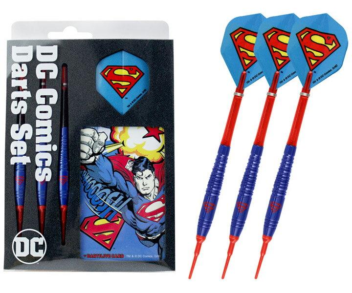 【メール便OK】ダーツ バレル【ダーツライブ】DCコミックス ダーツセット スーパーマン
