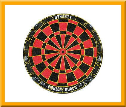 ダーツ【ダーツボード(Dartsboard)】【DYNASTY】 EMBLEM Queen (Type-B) レッド ハード