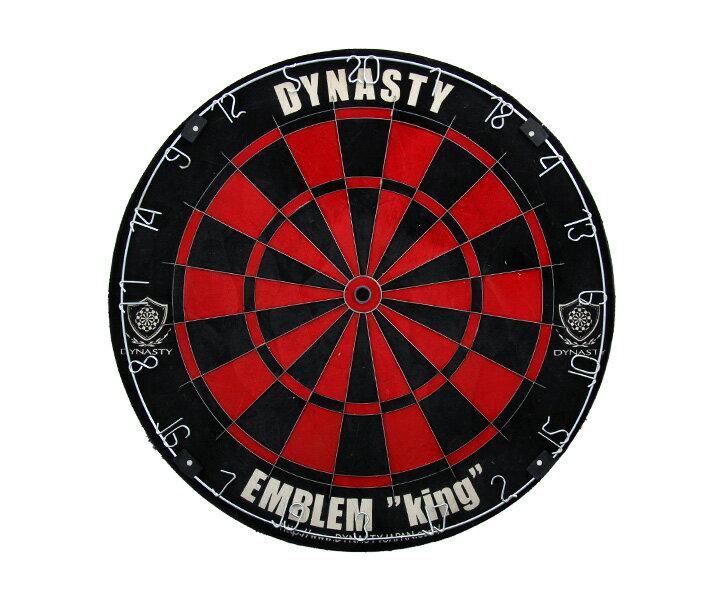 ダーツ【ダーツボード (Dartsboard)】【DYNASTY】 ハードボード EMBLEM King (Type-R) レッド 【ダ-ツボ-ド】