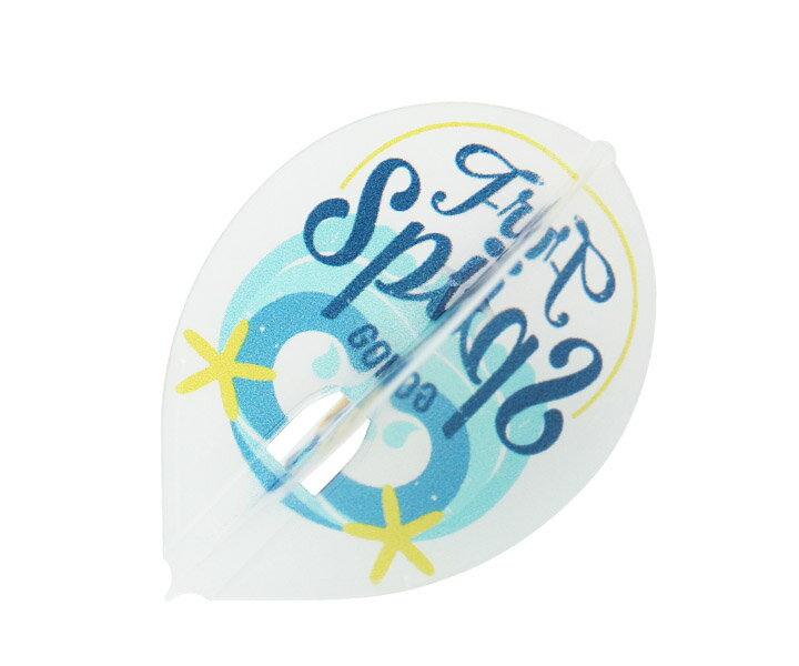 【メール便OK】ダーツ フライト【フライトエル】大内麻由美モデル MYM ver.3 ティアドロップ クリアホワイト