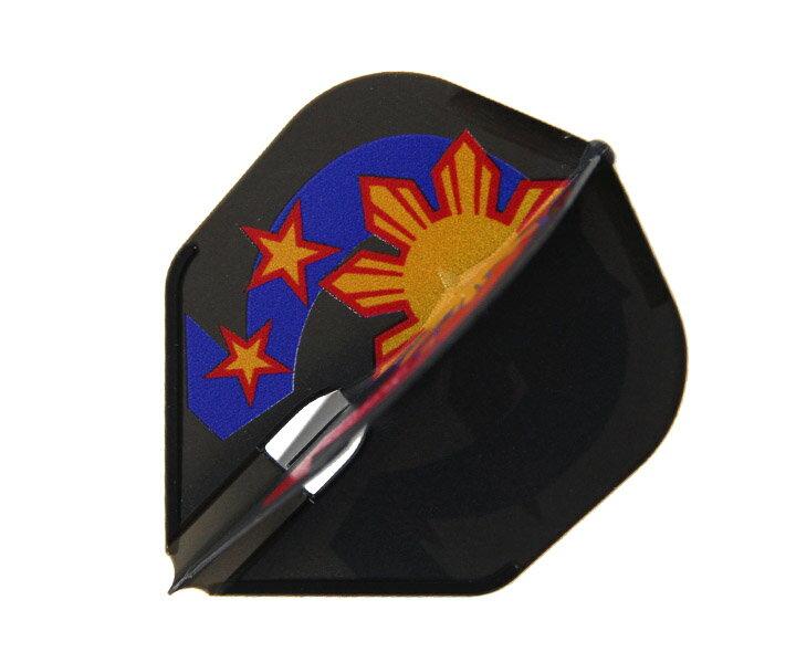 【メール便OK】ダーツ フライト【フライトエル】ローレンス・イラガンモデル ver.3 シェイプ ブラック