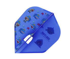 【メール便OK】ダーツ フライト【エルフライト】PRO 鈴木未来モデル ver.4 タイプA シェイプ ブルー