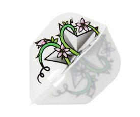 【メール便OK】ダーツ フライト【エルフライト】PRO 大城明香利モデル ver.4 シェイプ ホワイト