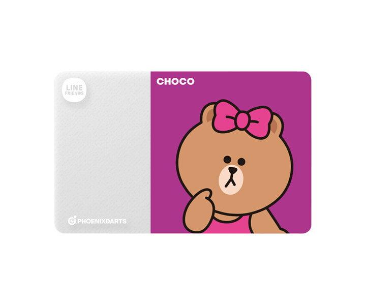 【メール便OK】ダーツゲームカード【フェニックス】フェニカ LINE FRIENDS チョコ
