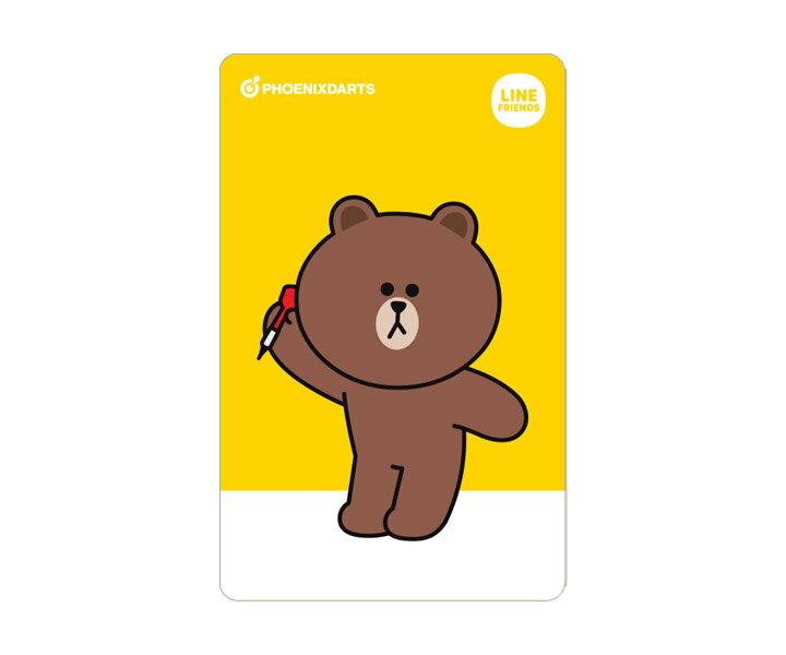 【メール便OK】ダーツ ゲームカード【フェニックス】フェニカ LINE FRIENDS ブラウン 2nd
