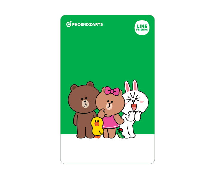 【メール便OK】ダーツ ゲームカード【フェニックス】フェニカ LINE FRIENDS ラインフレンズ