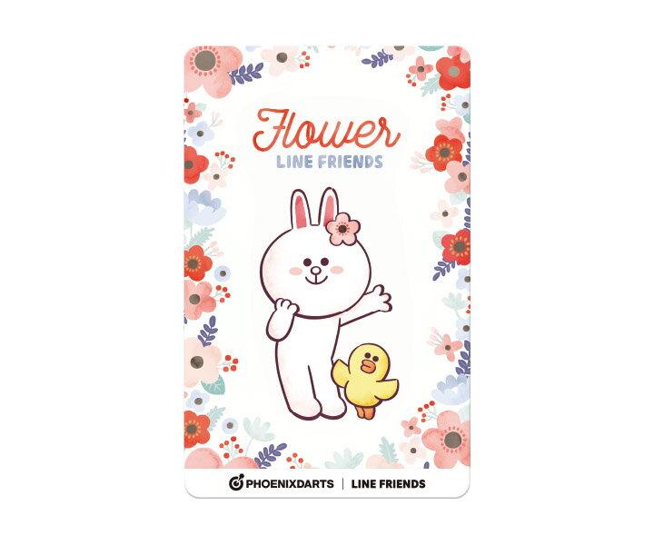 【メール便OK】ダーツ ゲームカード【フェニックス】フェニカ LINE FRIENDS フラワー FLOWER