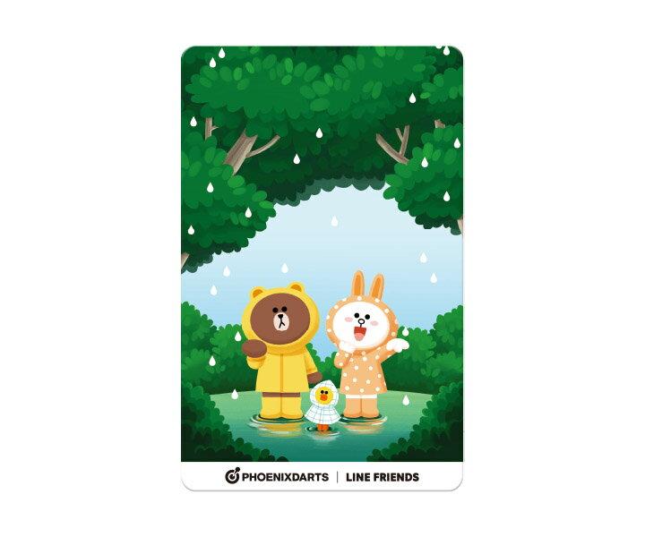 【メール便OK】ダーツ ゲームカード【フェニックス】フェニカ LINE FRIENDS フォレスト FOREST