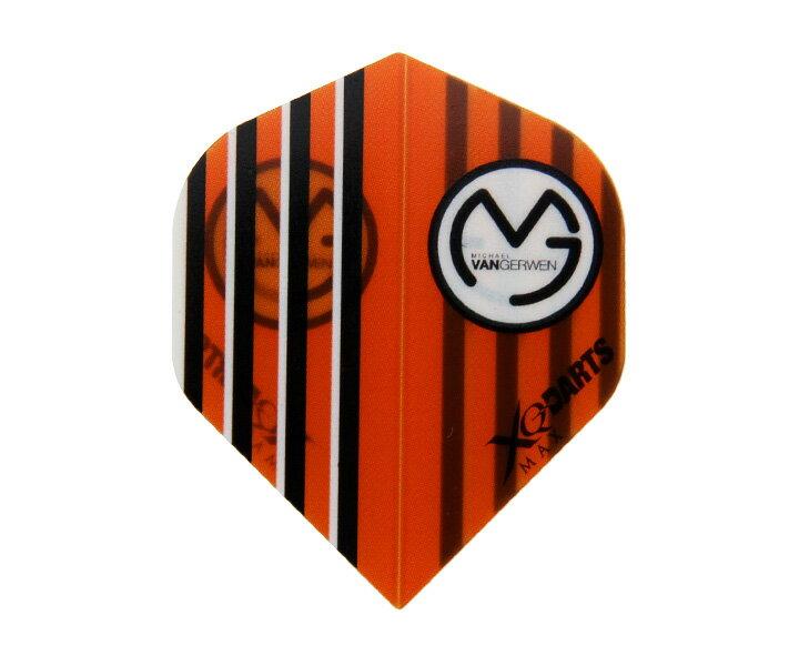 【メール便OK】ダーツ フライト【XQマックスダーツ】マイケル・ヴァン・ガーウェンモデル オレンジ MVA1078