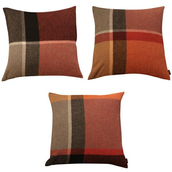 ELVANG (エルヴァン)/マンハッタン プラッド クッション(テラコッタ/レッド)1個 Manhattan cushion 9165 1個サイズ:60×60cm ※カバーのみ