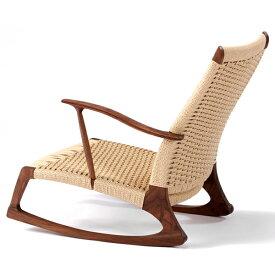 YURAGI 低座椅子(座面:ペーパーコード) 木種:ウォールナット(W610×D760×H680/SH220mm)