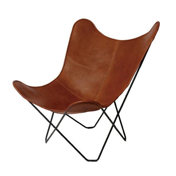 BKF Chair ビーケーエフ チェア / バタフライチェア (ブラウンレザー)【即納可】【代引き・時間指定不可】