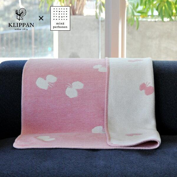 CHOUCHO by mina perhonen ベビーピンク ミニサイズ:約70×90cmシュニールコットンブランケット 専用BOX付き
