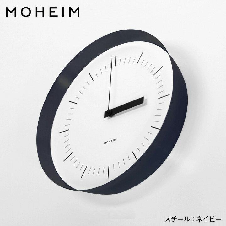 MOHEIM(モヘイム)/ HORN 掛け時計サイズ:φ280×D58mm 材質:スチール(ウレタン仕上げ)、アクリル【送料無料】
